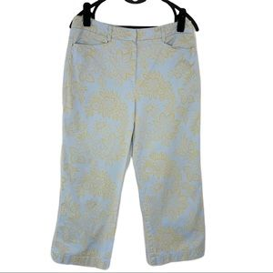 Tommy Hilfiger blue with tan floral print …